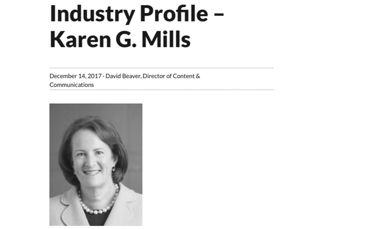 Orchard Blog Q&A: Karen G. Mills